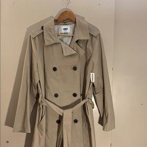 NWT Old Navy khaki knee length trench coat